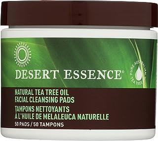 Desert Essence Facial Cleansing Pads Tea Tree Oil, 50 Pads, 0.75 Bottle