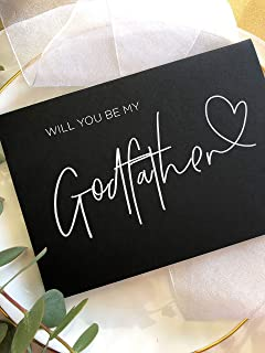 Black And White Simple Will You Be My Godfather Card God Father Proposal Baptism Gifts