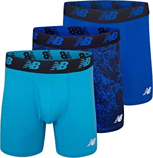 Men's 6 Boxer Brief Fly Front with Pouch, 3-Pack of 6 Inch Tagless Underwear