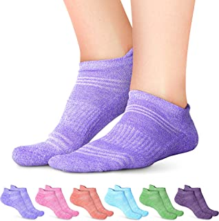 جوارب رياضية للنساء - جوارب كاحل للسيدات - لا تظهر في رياضة الجري - عبوة من 6 قطع