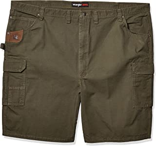 6c86e9f6b3 RIGGS WORKWEAR by Wrangler Men's Big & Tall Ripstop Ranger Short, Loden, 46