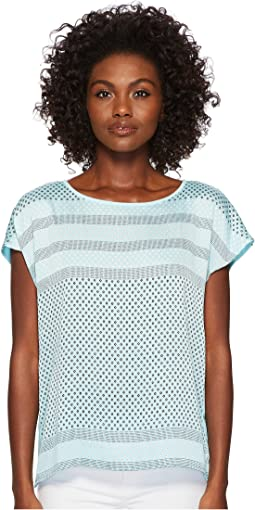 Vince Camuto - Extend Shoulder Diamond Geo Panel Blouse