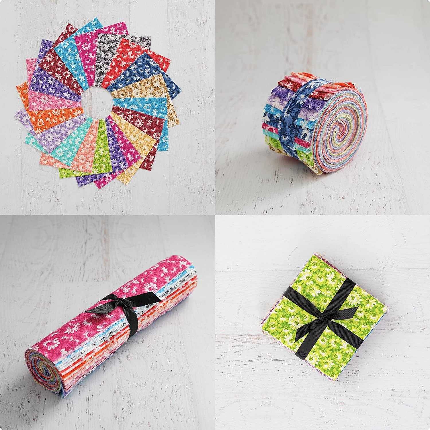 Daisy Do 3 Piece Quilters Manufacturer OFFicial shop Bundle Includes: P Max 67% OFF Jelly - Roll Charm