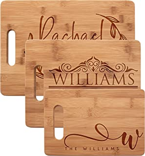 wood cutting boards personalized