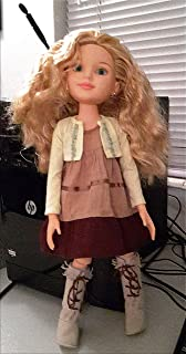 "BFC Ink Kaitlin 18"" Doll Brown Dress Yellow Sweater Suede Moccasin Boots"