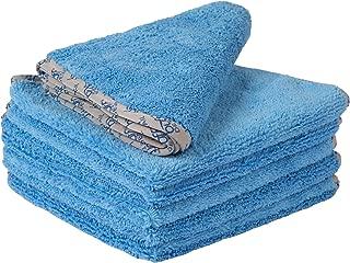 Buff Detail Microfiber Car Towels | 400 GSM | 80/20 Blend | Tagless | Soft Satin Piped Edges | All-Purpose Auto Detailing - Wax, Buff, Polish, Wash, Dry | 16