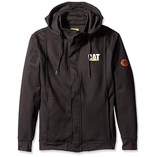 05bbfd866c19 Caterpillar Flame Resistant 14.5 oz Full Zip Sweatshirt With Removeable Hood