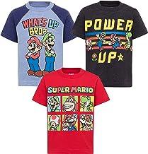 SUPER MARIO Nintendo Boys 3 Pack T-Shirts Luigi Bowser Yoshi Toad Donkey Kong