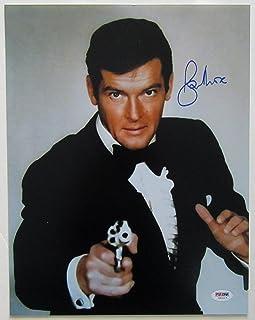 "Roger Moore Signed James Bond 11"" x 14"" Photograph - PSA/DNA COA."