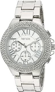 Kensie Women's Quartz Metal and Alloy Casual Watch, Color:Silver-Toned (Model: KEN5095)