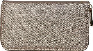 AspenLeather Women's Vegan Leather Wallet (Silver Grey)