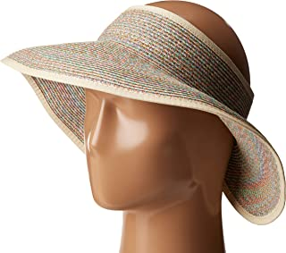 San Diego Hat Company Women's Ultrabraid Visor with Ribbon Binding, and Sweatband