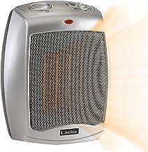 Lasko Ceramic Adjustable Thermostat Space Heaters, 754200 Silver