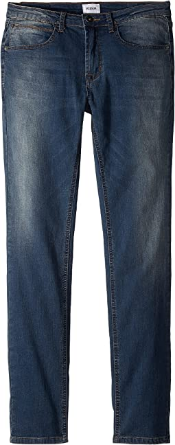 Jagger Slim Straight - Knit Denim in Beaten Blue (Big Kids)