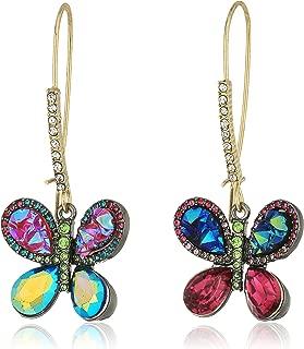 Women's Multicolor Butterfly Drop Earrings