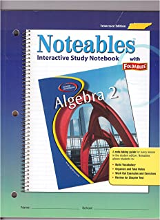 Noteables Interactive Study Notebook with Foldables Algebra 2