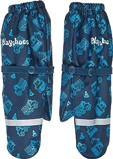 Playshoes pojkar Matschhandschuh mit Fleece-Futter Baustelle Handskar