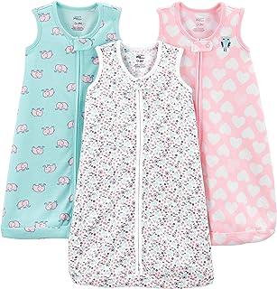 Girls' 3-Pack Poly Sleeveless Sleepbag Wearable Blanket