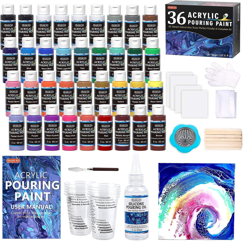 Acrylic Pouring Free Shipping New Paint Shuttle Art Bargain sale Set 2 oz 60ml 36 of Bottles