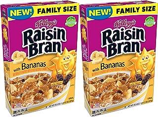 Kellogg's Raisin Bran with Bananas 20.5oz box (pack of 2)