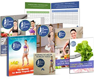 Morning Fat Melter Workout DVD for Women – Lose At Least 3 Pounds/Week With Our Weight Loss Program - 11 Workout Videos + 30 Days Meal Plan - 5 Printed Manuals & 1 Exercise DVDs