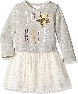 Baby Girls' Toddler Holiday Sparkle Long Sleeve Glitter Tutu Dress