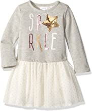 Mud Pie Baby Girls' Toddler Holiday Sparkle Long Sleeve Glitter Tutu Dress