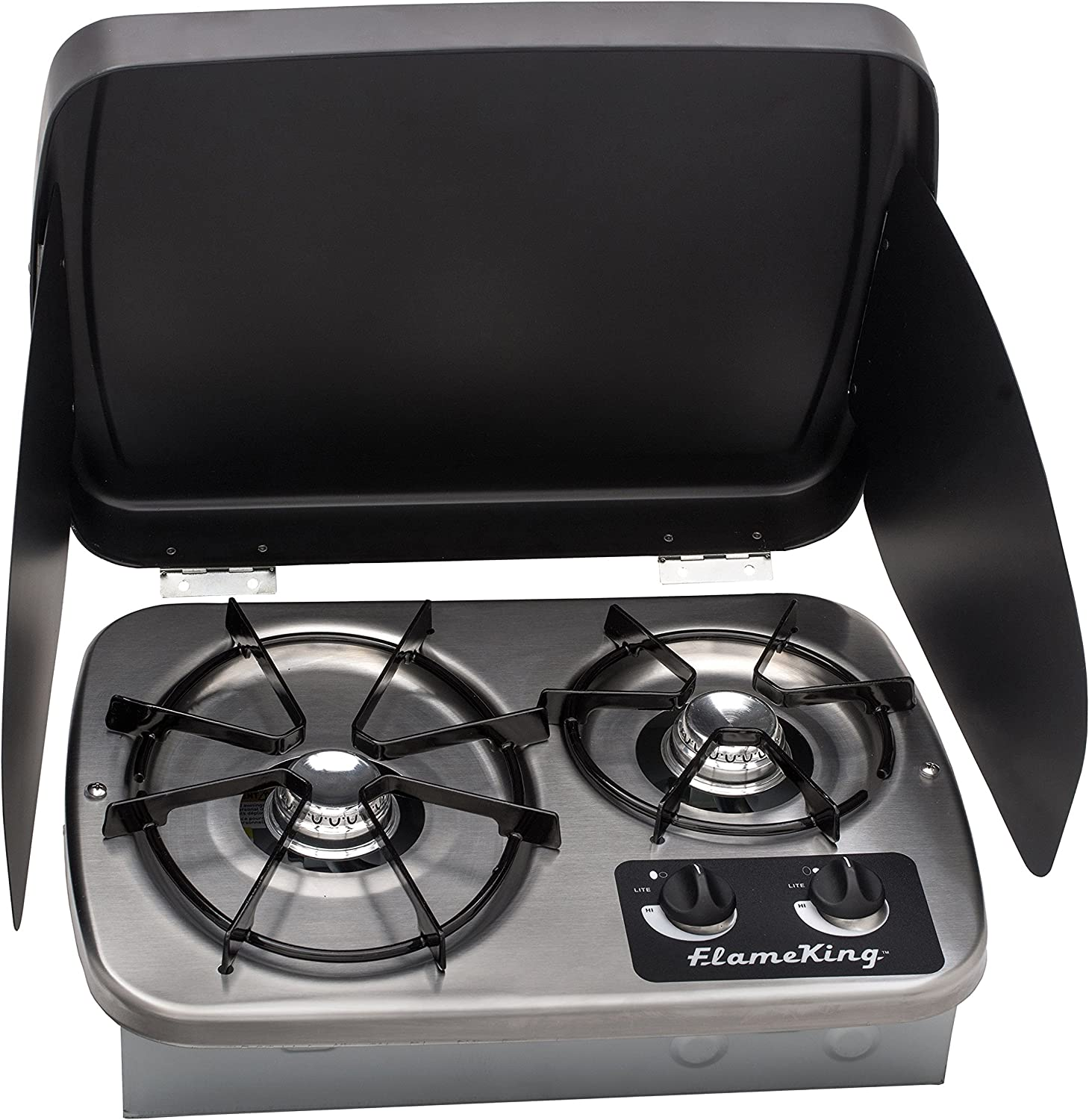 Flame Quality inspection King YSNHT600 2 Burner Stove Propane Cooktop Built-In sale RV