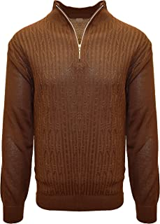 Men's Sweater, Solid Cable Knit Twist