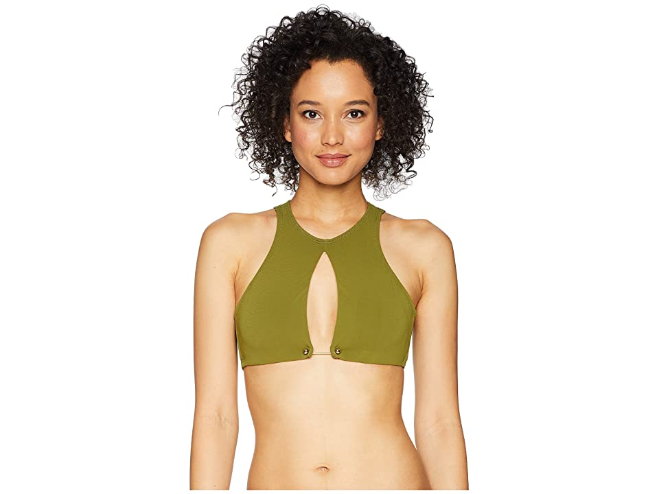 Robin Piccone Luca Keyhole Bikini Top (Moss) Women