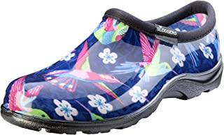 Sloggers Women's Waterproof Rain and Garden Shoe with Comfort Insole, Hummingbirds Pink, Size 7, Style 5117HUMPK07