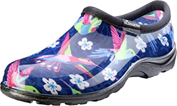 Sloggers Women's Waterproof Rain and Garden Shoe with Comfort Insole, Hummingbirds Pink, Size 11, Style 5117HUMPK11