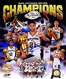 Tim Duncan San Antonio Spurs Signed Autographed 8