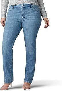 Lee Womens 30808 Plus Size Iconic Regular Fit Straight Leg Jean Jeans - Blue