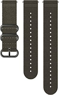 SS050229000 Original Watch Strap for All Suunto Spartan Sport WRH and Suunto 9 Watches, Textile, Length: 24.4 cm, Width: 24 mm, Includes Pins for Attaching the Strap, Grey/Black