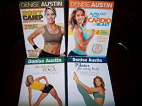 Denise Austin 4 DVD Set Workout Collection: BOOTCAMP (Cardio, Strength & Flexibility workouts) Total Body Blast! + BURN FAT FAST CARDIO BLAST (4 Workouts) + FAT-BLASTING YOGA (3 Workouts) + PILATES FOR EVERY BODY. Condition Your Heart, Crunch Calories and Melt Pounds Fast with a TOTAL OF 11 Workouts with Denise Austine
