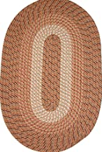 "product image for Plymouth 30"" x 50"" Braided Rug in Straw"