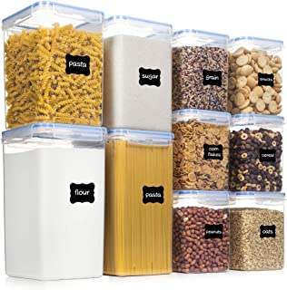 Airtight Food Storage Containers with Lids, PantryStar 10 PCS BPA Free Kitchen Storage Containers for Flour, Sugar, Baking...