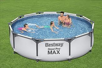 Bestway Steel Pro Frame Zwembadset, rond, met filterpomp Zwembadset + filterpomp. 305 x 76 cm blauw