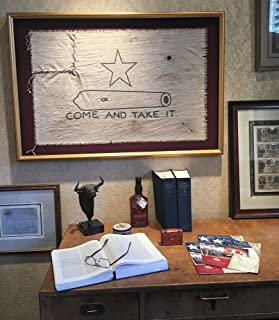 Hand Crafted Framed Gonzales Flag