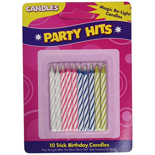 Magic Relighting Birthday CandlesPackage May Vary