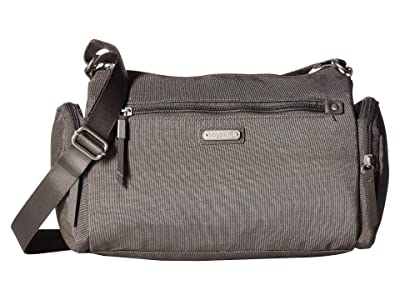 Baggallini Road Trip Hobo with RFID Phone Wristlet (Sterling Shimmer) Handbags