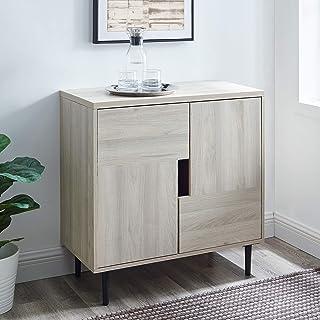 Walker Edison Furniture Company Halmstad Contemporary 2 Door Accent Cabinet, 30 Inch, Birch