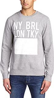 edc by ESPRIT Men's 024CC2J005 Crew Neck Long Sleeve Sweatshirt