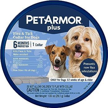 PetArmor Plus Flea & Tick Collar for Dogs, (one Size fits All)