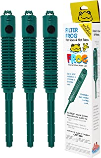 Spa Frog In-Filter - Year's Supply 3 Pack Bundled with Floating Buoy Pool Thermometer