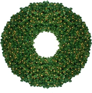 Northlight 5' Pre-Lit Olympia Pine Commercial Artificial Christmas Wreath - Clear Lights