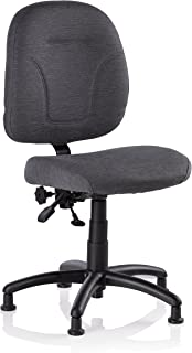 Reliable SewErgo Ergonomic Task Chair with Adjustable Back Sewing Chair, Cloth Covered Backrest, Height Adjustment, Contoured Cushion, Waterfall Seat Edge, 250 lb Weight Capacity, MADE IN CANADA