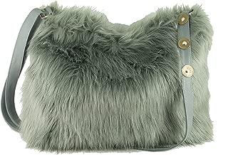 LONI Womens Faux Fur Hobo Crossbody Shoulder Bag Handbag