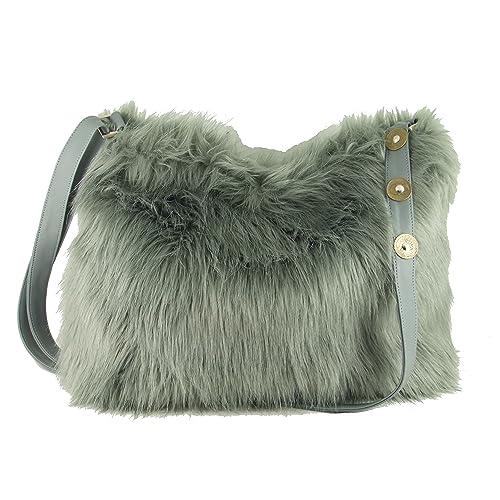 9aba8f634a4e0 LONI Womens Faux Fur Crossbody Shoulder Bag Handbag